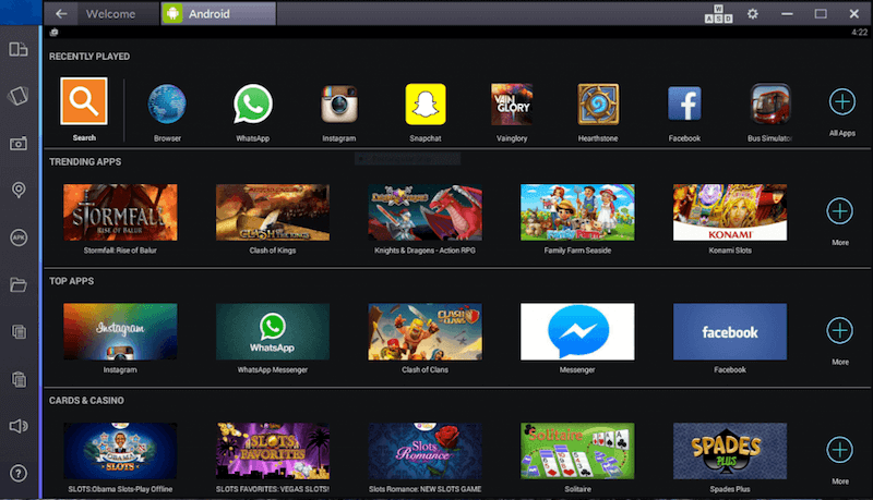 BlueStacks 2 Screenshot for running mx player on pc